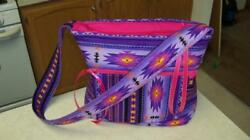 Native American Navajo Indian Southwestern PURPLE Pink HANDBAG WRISTLET keychain