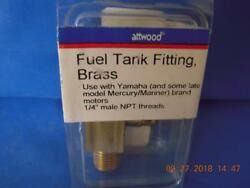 8897-7 Fuel Tank Fitting 1/4 Male Npt Threads Attwood