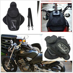 Motorcycle Oil Fuel Tank Waterproof Shoulder Sling Bag Travel Black Universal