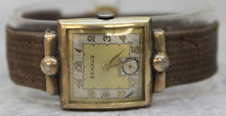 Vintage Benrus Manual Wind Up Watch 25mm Case Working Condition