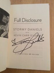 Signed By Stormy Daniels - Full Disclosure Hc Book 1st/1st + Pic Donald Trump