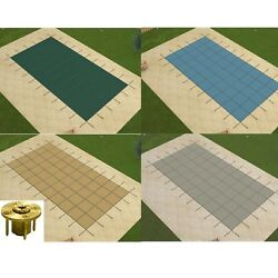 Gli Promesh Rectangle Swimming Pool Safety Covers W/ Wood Anchors Choose Color