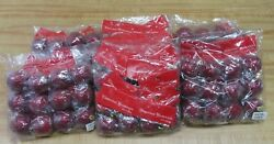 Lot Of 72 Vintage Sparkly Red Christmas Tree Ball Globe Ornaments Decorations