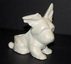 Vintage Scotty Dog Planter White Matte Finish Scottish Terrier