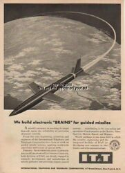 1957 Terrier Talos Sparrow Guided Missile Brain IT&T Ad Rocket