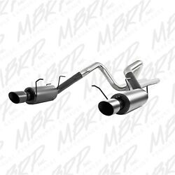 Mbrp Exhaust S7258blk Black Series Cat Back Exhaust System Fits 11-14 Mustang