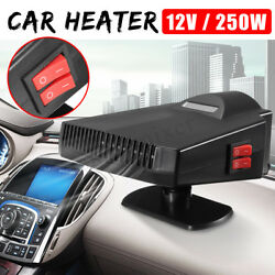 Auto Car Ceramic Heater 250W 12V Portable Heating Dryer Fan Defroster Demister