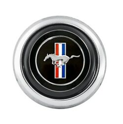 1965-1973 Mustang Tri-bar Horn Button For Cs500 Steering Wheel - Ford Licensed