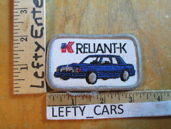 Plymouth Reliant K Car Dodge Aries EMBROIDERED VINTAGE PATCH - SEW ON TYPE