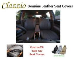 Clazzio Genuine Leather Seat Covers For 07-10 Chevy Tahoe Black W/o 3rd Row Cvr