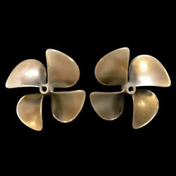 Hung Shen Nibral 24 Dia. x 24 Pitch 4-Blade Marine Boat Propellers (Set of 2)