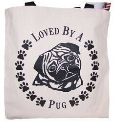Pug Tote Bags New Made In Usa Lot Of 10