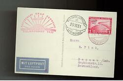 1931 Germany Graf Zeppelin Real Picture Postcard Cover Polar Flight Lz 127 C40