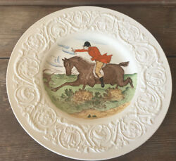 Wedgwood Dinner Plate Patrician England The Hunt Tally Ho Hunting Horses Rare