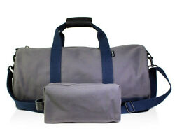 New Men#x27;s Owen amp; Fred Blue Gray Traveler Gym Duffel Bag and Toiletry Kit Combo $36.50
