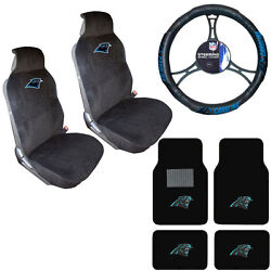 Nfl Carolina Panthers Car Truck Seat Covers Steering Wheel Cover And Floor Mats