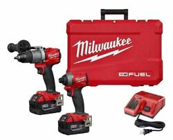 Milwaukee 2997-22 M18 Hammer Drill And Impact Driver Combo Kit W/2 5ah Batteries