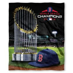 Boston Red Sox 2018 World Series Champions 50 X 60 Hd Silk Touch Throw Blanket