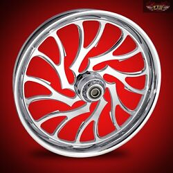 2008-2019 Harley Chrome 23 Inch Front Wheel Floating Rotors Nightmare