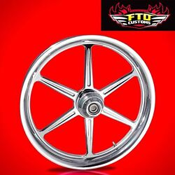 2000-2007 Harley Chrome 23 Inch Front Wheel And Floating Rotors Malice