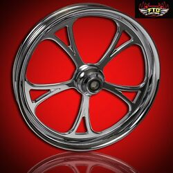 2000-2007 Harley Chrome 26 Inch Front Wheel And Floating Rotors Cyclone