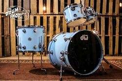 DW Collector's Series Drum Set, Sky Blue Lacquer Custom (video demo)