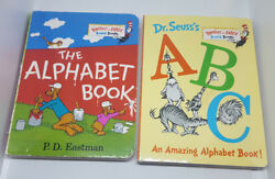 Lot of 2 Bright & Early DR. SEUSS Board Books: ABC The Alphabet Book PD Eastman