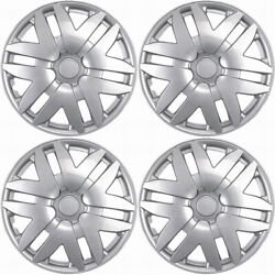 4 Pc Hubcaps Fits Select Auto Truck Suv 16 Silver Replacement Wheel Rim Cover