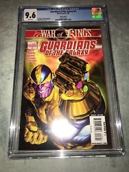 Rare Guardians Of The Galaxy 8 Thanos Infinity Gauntlet Variant Cgc 9.6