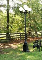Pole Light Outdoor 5 Arm 12 Foot Tall Victorian Replica Vintage Commercial Home