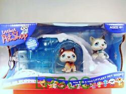 Littlest Pet Shop Husky Dogs POLAR PUPPIES lot #68 69 70 RARE First 80 Pets! NIB