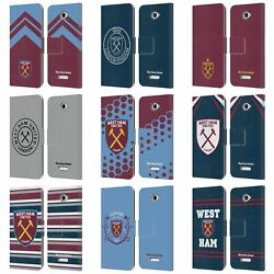 Official West Ham United Fc 2018/19 Crest Leather Book Case For Sony Phones 2