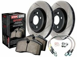 StopTech 977-33003F Sport Brake Kit Slotted Front Incl. Rotors Pads And Stainles