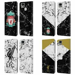 Liverpool Fc Lfc Marble Pu Leather Book Wallet Case For Asus Zenfone Phones