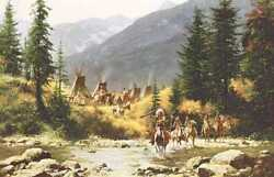 Howard Terpning Crow Country Signed And Numbered Limited Canvas Native Indian Art