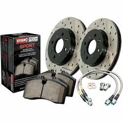 StopTech 978-62016R Sport Brake Kit Drilled And Slotted Rear Incl. Rotors Pads A