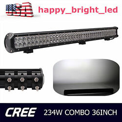 36inch 234w Led Light Bar Combo Off Road Fog Driving Lamp 4wd Ute Ford Bumper