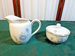 Beautiful Hutschenreuther Selb Turvel Hut1700 Floral Creamer And Sugar Bowl W/lid
