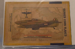1940's Corn Flakes Cereal Hawker Plane Advertising Back Box