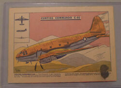 1940's Corn Flakes Cereal Curtiss Commando Plane Advertising Back Box