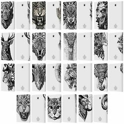 Bioworkz Animal Head Leather Book Wallet Case Cover For Samsung Galaxy Tablets
