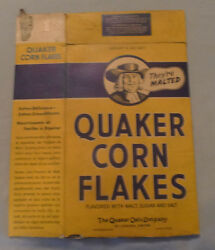 1940's Corn Flakes Cereal Consolidated Catalina Plane Advertising Box