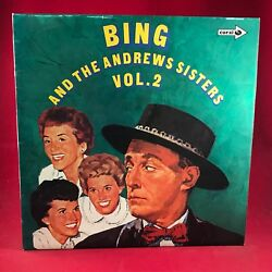 Bing Crosby Bing And The Andrews Sisters Vol 2 Uk Vinyl Lp Excellent Condition