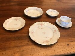 Warwick Old Abbey Dinnerware Set Of Eight With Serving Pieces.