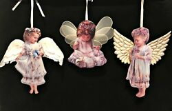 Heavens Little Angels Christmas Ornaments 3 Porcelain Bradford Editions 1 2 And 3