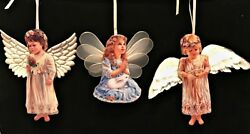 Heavens Little Angels Christmas Ornaments 3 Porcelain Bradford Editions 7 8 And 9