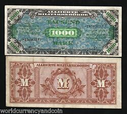 Germany 1000 1000 Marks P198 1944 Euro Allied Military Payment War Ii Jim Mpc