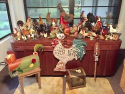 Chicken And Rooster Figurines