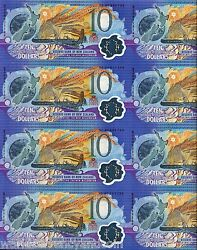 New Zealand 10 P190 2000 Uncut Complete Sheet Of 20 Commemorative Polymer Note