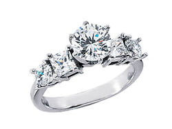 1.50ct Diamond Open Gallery Engagement Ring Princess Round Accents 950 Platinum